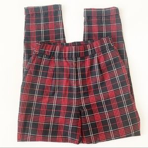 VINTAGE STYLE SMALL Plaid High Rise ANKLE Pants